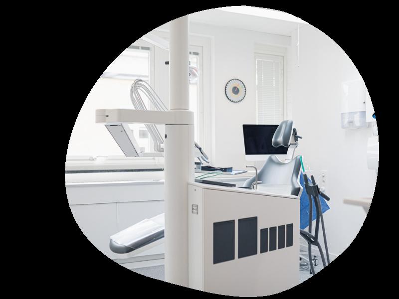 tandklinikens behandlingsrum